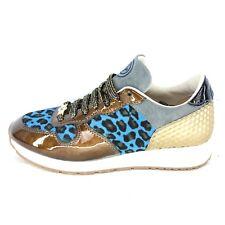 535d795ce86f GINO-B Damen Low Sneaker IBIZA Gr 37 Mehrfarbig Fell Leder Schuhe NP 269 NEU
