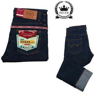 Relco Jeans Texas 14oz Denim Straight Leg Rockabilly Retro Western  32 or 34 Leg