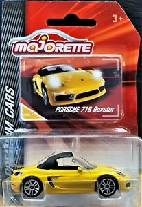 Majorette 2017 Porsche 718 Boxster Yellow #209 Premium Cars New Long Card