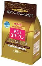 Meiji Amino Collagen Premium Powder Refill 214g 30days Free Shipping from Japan!