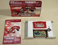 Pokemon Ruby Gameboy Advance GBA version Nintendo authentic  box manual Japan jp