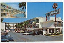 Vintage Chrome Postcard Diplomat Beach Motel DAYTONA BEACH Florida