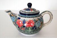 Unikat Geschenk Teekanne 750 ml. aus Bunzlauer Keramik Handarbeit nk3207