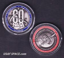 NEW NASA 60TH ANNIVERSARY -FLOWN METAL- Limited Edition COIN-MEDALLION W/ COA