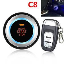 C8 Car Entry Security System Kit Engine Start Button Vibration Alarm Remote
