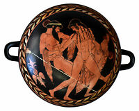 Ganymedes and Zeus small red figured Kylix Vase - Museum of Ferrara - Cupbearer