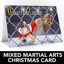 Mixed Martial Arts Christmas card - Mma card Ufc card - Santa is a cage fighter!