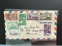 U.S 1948 Air Mail to Germany multi  stamp cover R31570