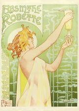 ABSINTHE ROBETTE,1896, Henri Privat-Livemont, 250gsm Art Nouveau A3 Poster