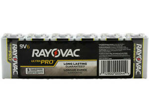 RAYOVAC 9 Volt Long Lasting Battery - 6 Pack Shrink Wrapped - 5 Year Shelf Life!