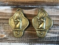 2 Vintage Colonial Williamsburg Brass RANDOLPH Antelope Paper Weight / Clip