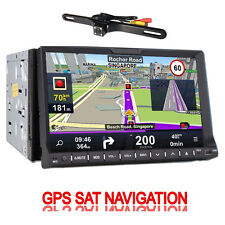 GPS Nav AM FM Radio Bluetooth Car Stereo DVD CD Player Double 2Din 7