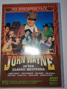 John Wayne In Ten Classic Westerns 4 Disc Set 10 Movie Pack DVD