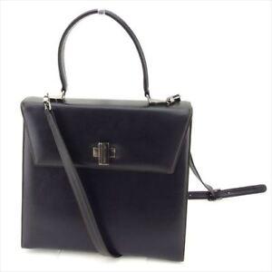 Aquascutum Shoulder bag Black Woman Authentic Used P723