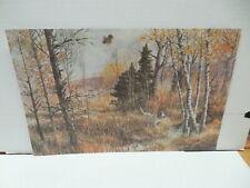 Remington Calendar Wildlife Art Print Woodcock Hunting Dog In Forest