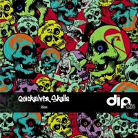 Quicksilver Skulls - Hydrographics Film 50cm - Hydro Dipping FOLDED