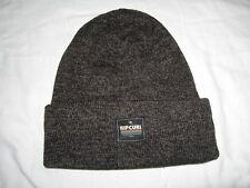 BNWT - RIPCURL Rolla Up Beanie Hat   Fleckled Black & Grey