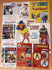 Lote 9 Posters Editorial Valenciana Roberto Alcazar y Pedrin,Superman,Comandos