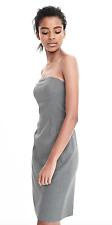 BANANA REPUBLIC BR Exposed Dart Strapless Dress in Gray Size 8P Petite BNWT