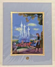 Disney Parks Cinderella's Dream Castle Deluxe Matted Print by Larry Nikolai New