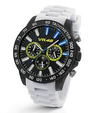 TW Steel Valentino Rossi VR|46,  45mm White Strap Chronograph Watch VR116