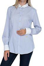 Gestreifte Damenblusen,-Tops & -Shirts mit Klassischer Kragen ohne Mehrstückpackung