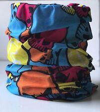 2Multi Colors Bandana Headface Mask Neck Gaiter Snood Headwear Beanie Tube Scarf