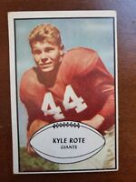 1953 Bowman #25 Kyle Rote New York Giants / SMU Southern Methodist Mustangs