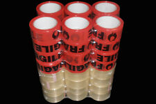 24 Rolls Fragile Sticky Packing Tape 75 Meter X48mm Black on Red