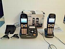 Panasonic DECT 6.0 Plus Digital Cordless Answering System KX-TG6592 Two Handsets
