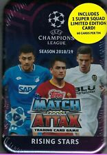 2018-19 Topps UEFA Champions League Soccer Match Attax 60ct RISING STARS TIN FS