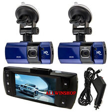"2x 2.7"" Full HD 1080P Car DVR HDMI Dash Camera Video Recorder Dash Cam G-SensEK"