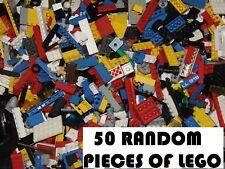 50 Lego Básico Edificio Ladrillos Placas Pendientes USADO Set