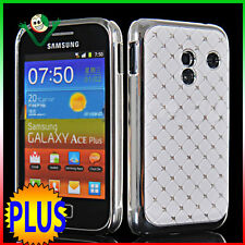 Custodia BRILLANTINI per Samsung S7500 Galaxy ACE PLUS back cover LUCE bianca