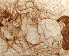 Guillaume Azoulay Recontre 1979  Original Fine Art Intaglio etching SUBMIT OFFER