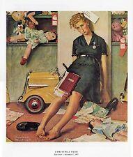 Norman Rockwell Sales Clerk Print CHRISTMAS RUSH