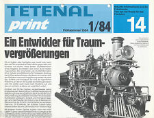Prospekt Tetenal Print 14 1/84 Ektachrome 22 Neofin Color Prozess PK Fotografik
