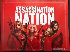 ASSASSINATION NATION ORIGINAL 2018 CINEMA QUAD POSTER ODESSA YOUNG HARI NEF