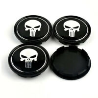 4x 63mm Punisher Nabendeckel Felgendeckel Schwarz M595 für OZ Superturismo