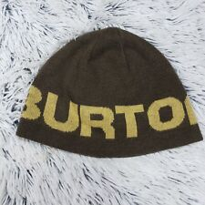 f8dad4a986f Burton Mens Adult Brown Knit Acrylic Beanie Hat Cap