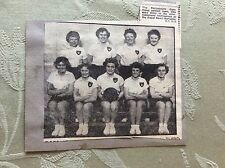 A2n ephemera 1950s picture model actress portsmouth command netball team