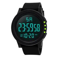 Men Wrist Watch Led Digital Display Military Resin Dial Buckle Clasp Electronics
