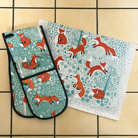 Ulster Weavers Foraging Fox Kitchen Cotton Hand Dry Tea Towel Double Oven Gloves