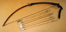 CONGO old african bow 7 arrows flèches ancienes PIGMY afrique arc kongo pfeile