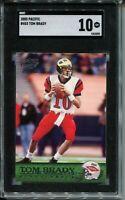 2000 Pacific Football #403 Tom Brady Rookie Card RC Graded SGC Gem Mint 10