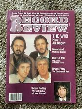 RECORD REVIEW October 1982 The Who Motörhead Haircut 100 Bryan Ferry