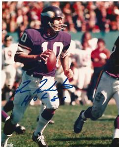 Fran Tarkenton HOF 1986 Signed Minnesota Vikings 8x10 SIGNED NFL PHOTO VERY NICE