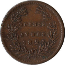 1827 Argentina - Buenos Aires 5/10 Real Coin KM#3
