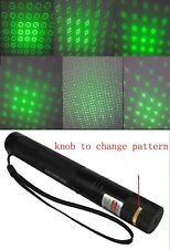 Military Adjustable Focus Green Laser Pointer 5mw 6 different pattern up miles