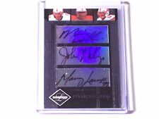 2006 Leaf Limited Triple Autograph Mario Williams John McCargo Manny Lawson /100